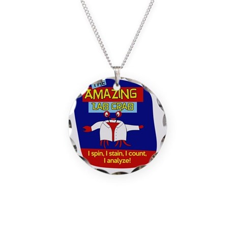 The Amazing Lab Crab Necklace Circle Charm