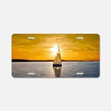 Sailing into the sunset Aluminum License Plate