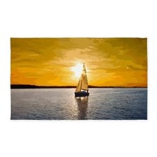 Sailing into the sunset 3'x5' Area Rug