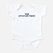 Team LETTUCE AND TOMATO Infant Bodysuit