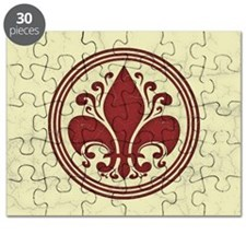 fleur-antique-red-OV Puzzle
