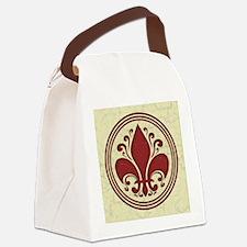 fleur-antique-red-BUT2 Canvas Lunch Bag