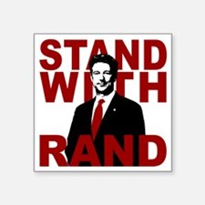 "Stand With Rand Square Sticker 3"" x 3"""