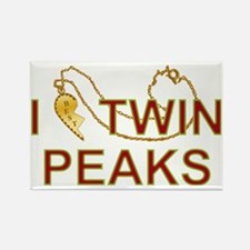 I Love Twin Peaks Locket Rectangle Magnet