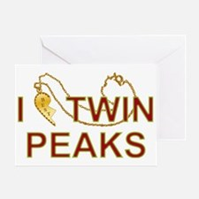I Love Twin Peaks Locket Greeting Card