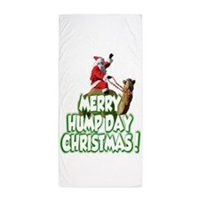 Funny Merry Hump Day Christmas Beach Towel