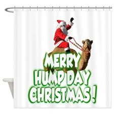Funny Merry Hump Day Christmas Shower Curtain