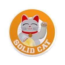 """Solid Cat original 3.5"""" Button"""
