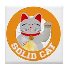 Solid Cat original Tile Coaster