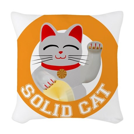 Solid Cat original Woven Throw Pillow