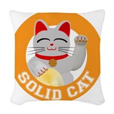 Solid Cat original Woven Throw Pillow