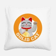 Solid Cat original Square Canvas Pillow
