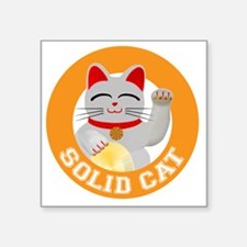 "Solid Cat original Square Sticker 3"" x 3"""