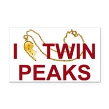 I Heart Twin Peaks Locket Rectangle Car Magnet
