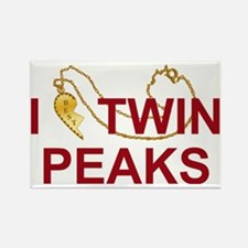 I Heart Twin Peaks Locket Rectangle Magnet