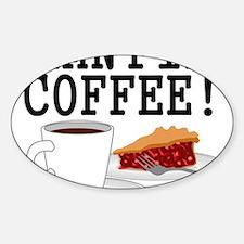 Twin Peaks Damn Fine Coffee Sticker (Oval)