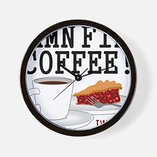 Twin Peaks Damn Fine Coffee Wall Clock