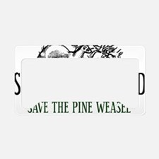 Twin Peaks Pine Weasel License Plate Holder