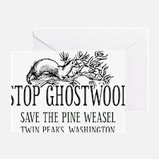 Twin Peaks Pine Weasel Greeting Card