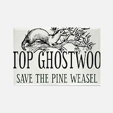 Twin Peaks Pine Weasel Rectangle Magnet