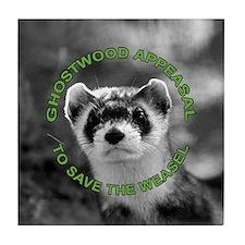 Appease The Pine Weasel Twin Peaks Tile Coaster
