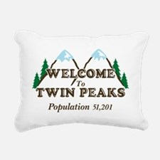 Welcome To Twin Peaks Rectangular Canvas Pillow