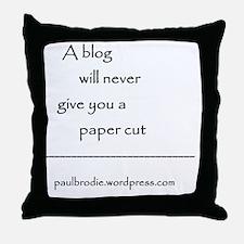 Blog byline Throw Pillow