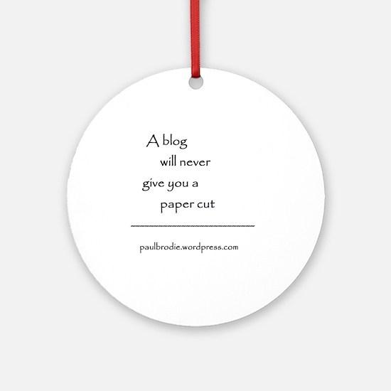 Blog byline Round Ornament