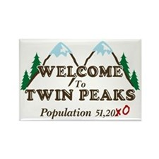Welcome To Twin Peaks Population Rectangle Magnet