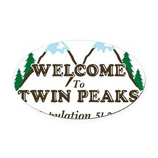 Welcome To Twin Peaks Population Oval Car Magnet