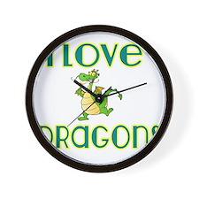 I love Dragons 2 Wall Clock