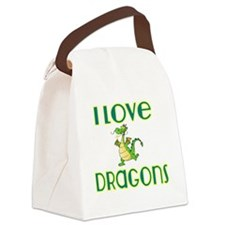 I love Dragons 2 Canvas Lunch Bag