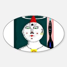 Jungian Shadow by Brett Fletc Oval Decal