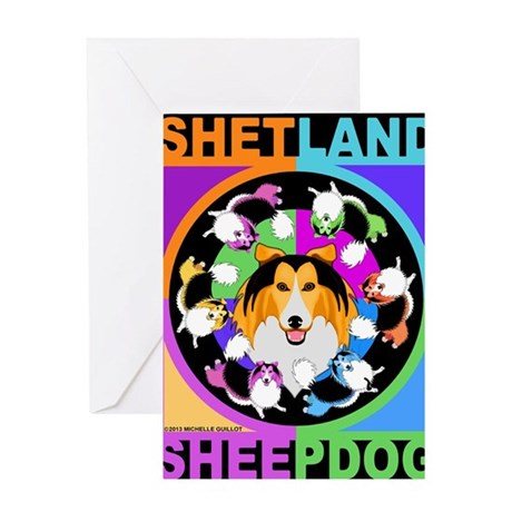 Sheltie Dog Breed Graphics Greeting Card