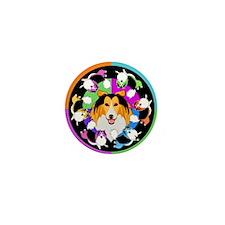 Sheltie Dog Breed Graphics Mini Button