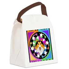 Sheltie Dog Breed Graphics Canvas Lunch Bag