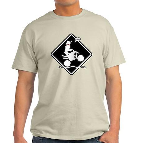 QUAD WHEELIE black placard Light T-Shirt