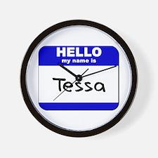 hello my name is tessa  Wall Clock