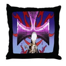 SkullCross13iPad2_Cover Throw Pillow
