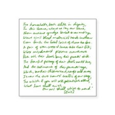 "Romeo Juliet opening green Square Sticker 3"" x 3"""