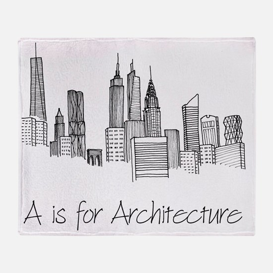 A is for Architecture Skyline Throw Blanket
