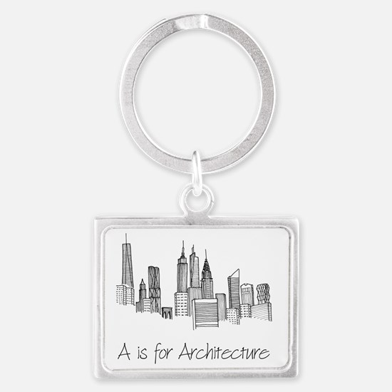 A is for Architecture Skyline Landscape Keychain