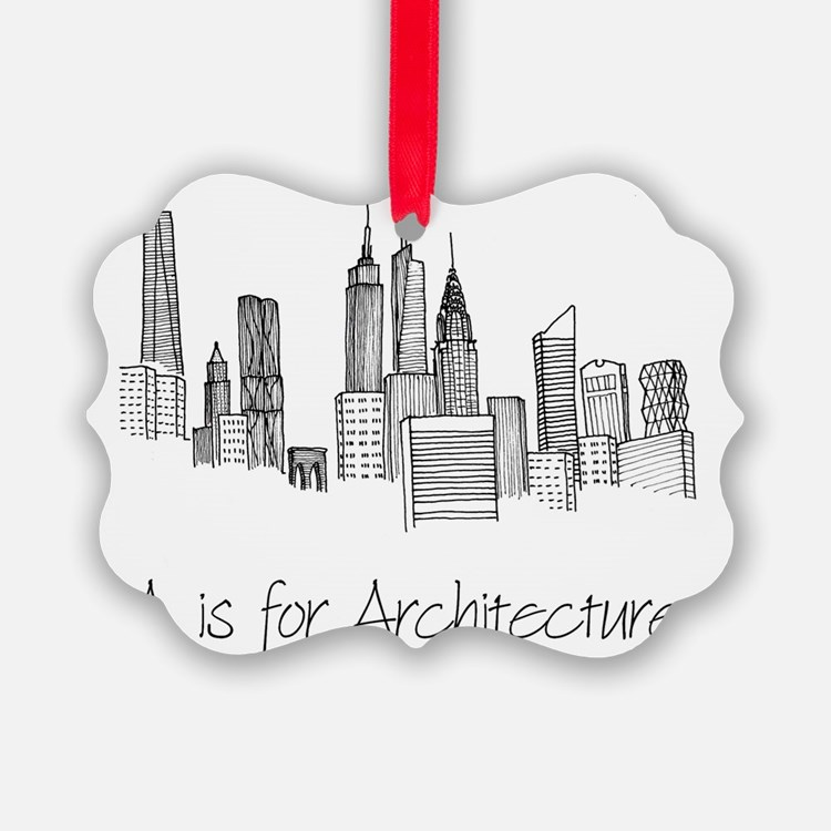 A is for Architecture Skyline Ornament