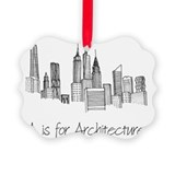 Architect Picture Frame Ornaments