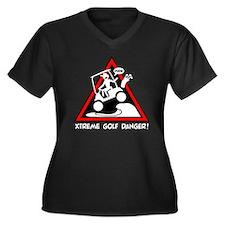 GOLF CART JU Women's Plus Size Dark V-Neck T-Shirt
