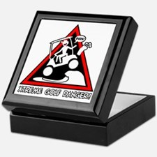 GOLF CART JUMP danger sign Keepsake Box