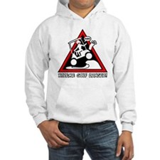 GOLF CART JUMP danger sign Jumper Hoody