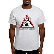GOLF CART JUMP danger sign T-Shirt