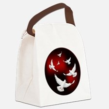 DOVES OF PEACE Canvas Lunch Bag