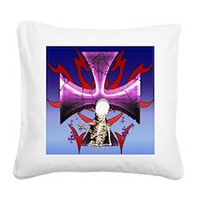 SkullCross13_pillow Square Canvas Pillow